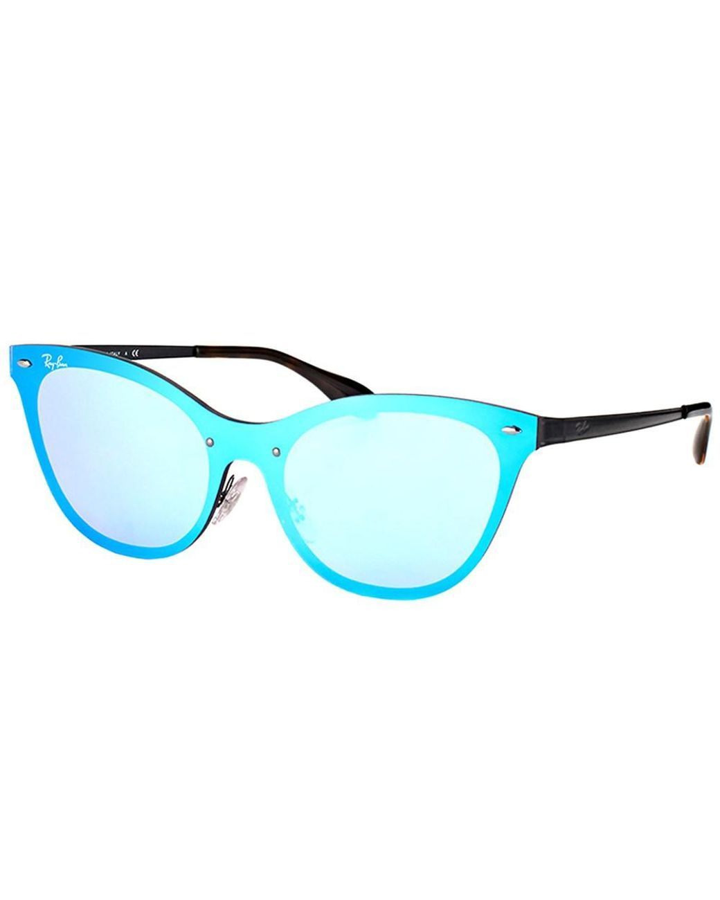 ac367ae5d7 Ray-Ban - Blaze Cat-eye Rb 3580n 153 7v Black Sunglasses - Lyst ...