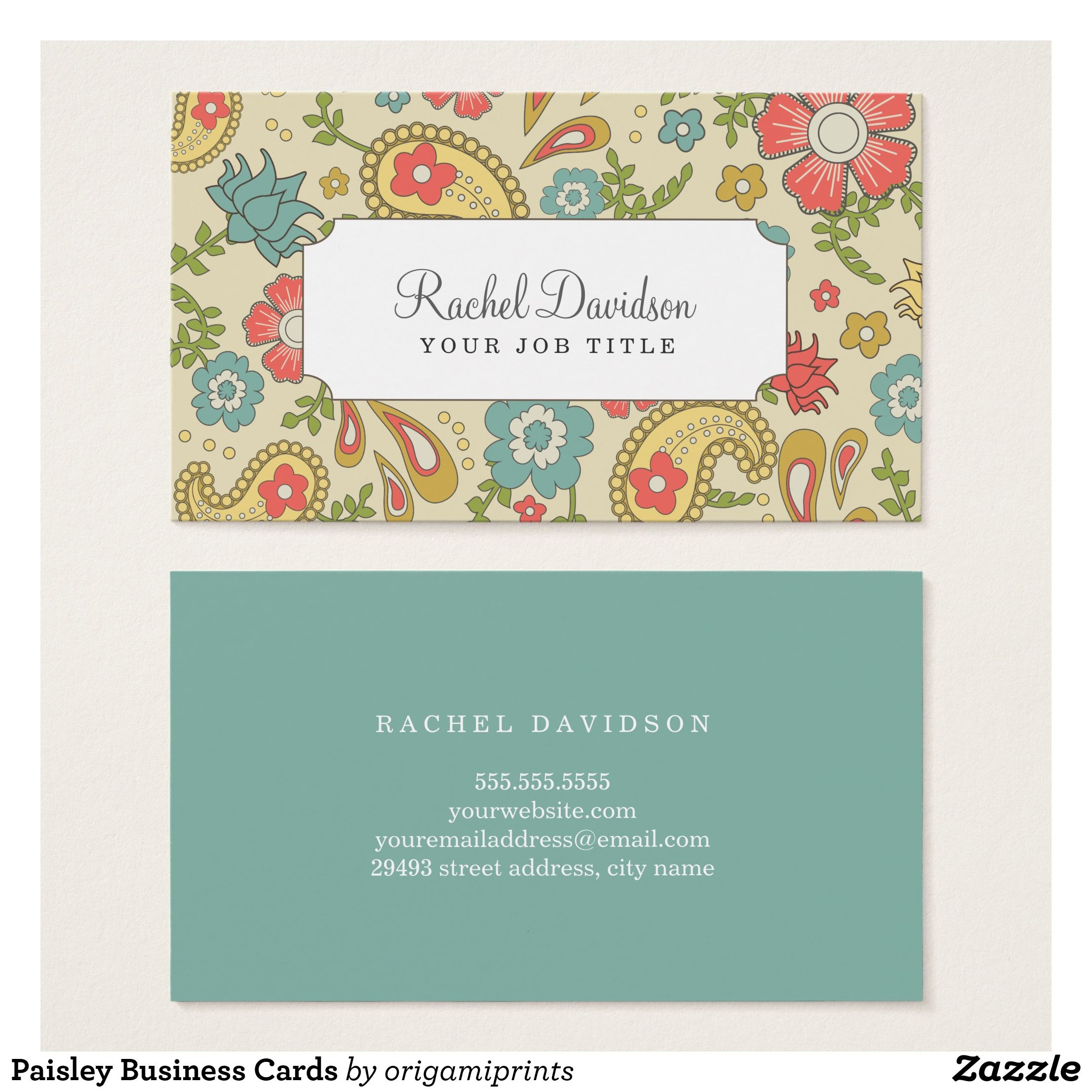 Paisley Business Cards | Business cards and Business
