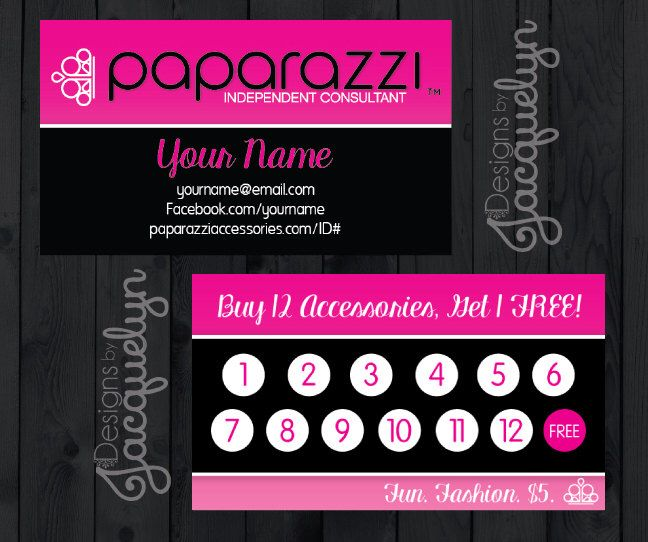 Paparazzi Jewelry Business Card Digital Download Paparazzi - Paparazzi business card template