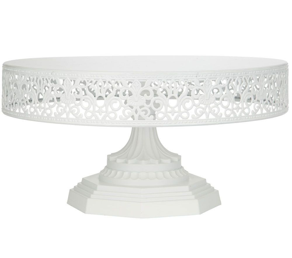 White Victorian Lace Edge Cake Stand 12inch Or 30cm Diameter Metal Cake Stand Metal Wedding Cake Stands Wedding Cake Stand White