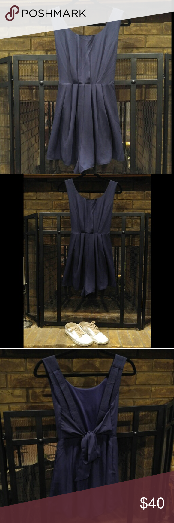 Pleated Navy Romper Nwot Rodeo Boutique Dresses And Bundling 1 M