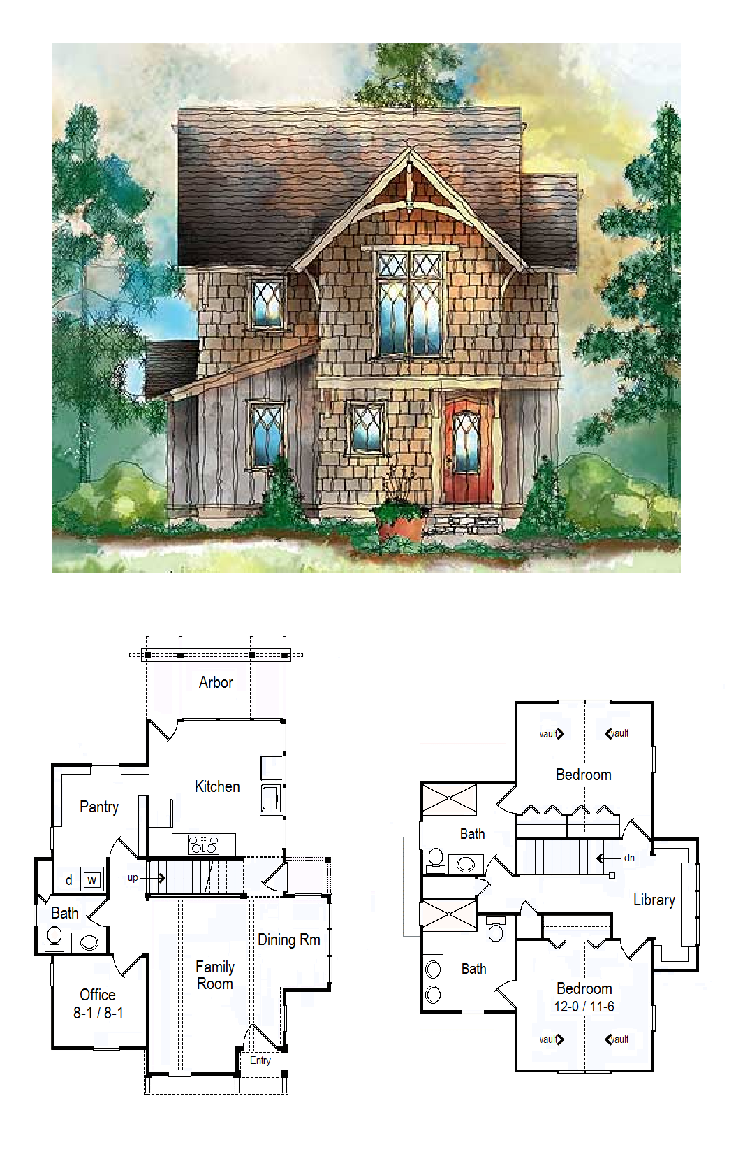 Plan 26680gg Cottage With Library Loft Cottage House Plans Sims 4 House Plans Sims House Plans