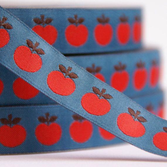 geweven sierband appeltjes op Etsy, 1,52€