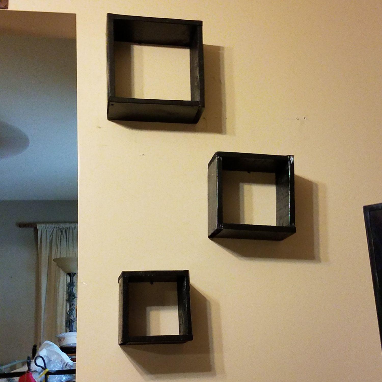 Modern shelves, floating shelves, modern art, home decor, wall art ...