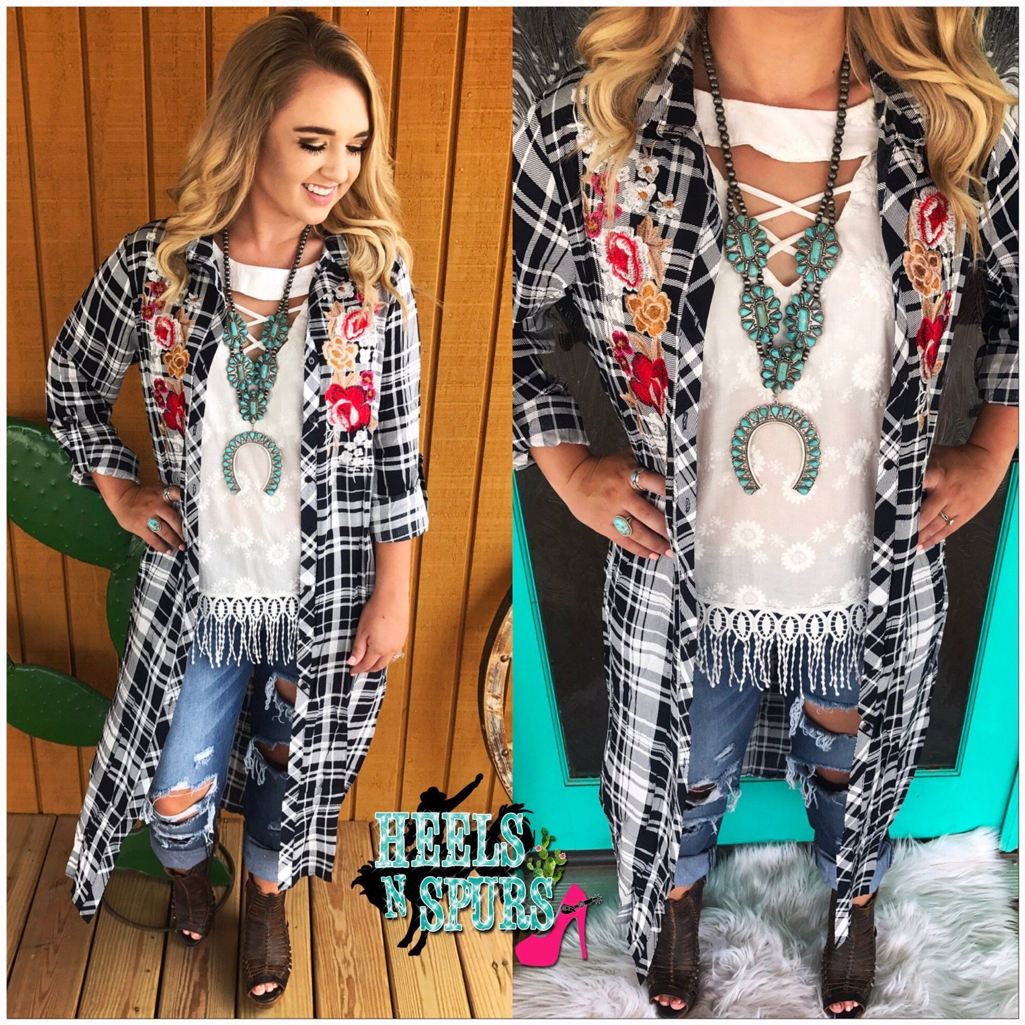 Country days embroidered duster dusters dream closets and clothing