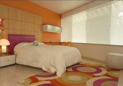 Detalles para un dormitorio naranja