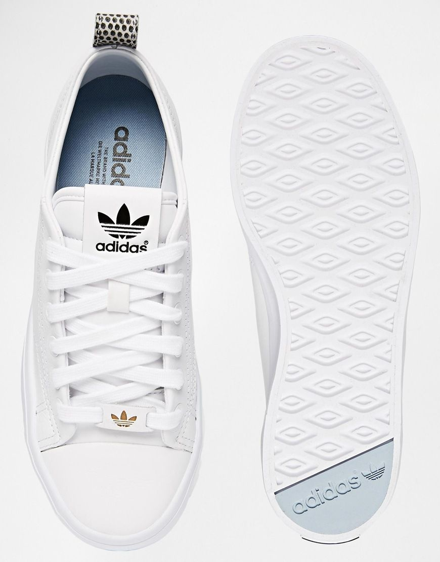timeless design a6ef4 26038 Image 3 of Adidas Originals Honey 2.0 White Trainers