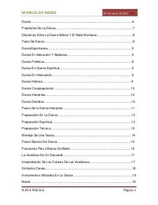 Manual de danza cristiana pdf