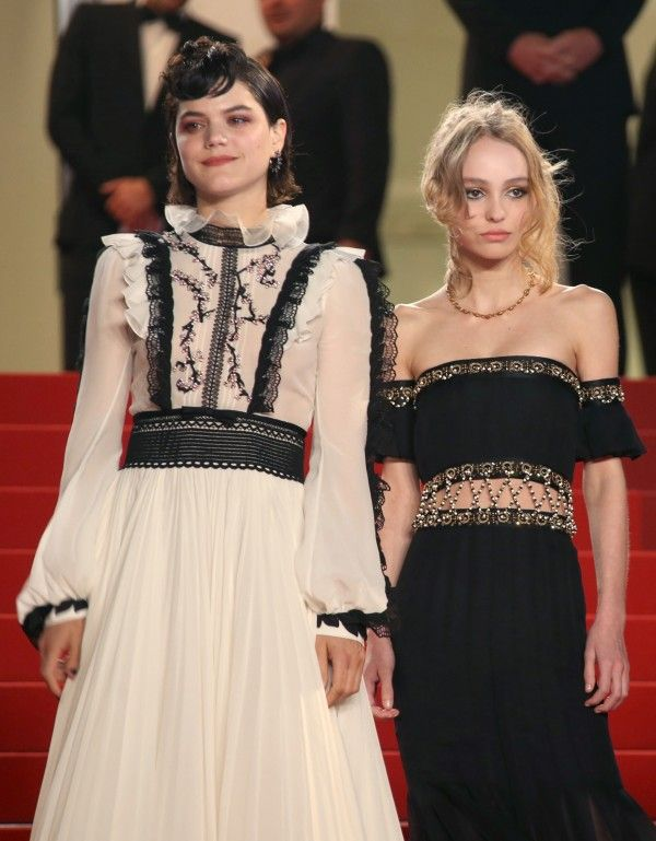 Lily-Rose & SoKo on the red carpet at the Cannes film festival.