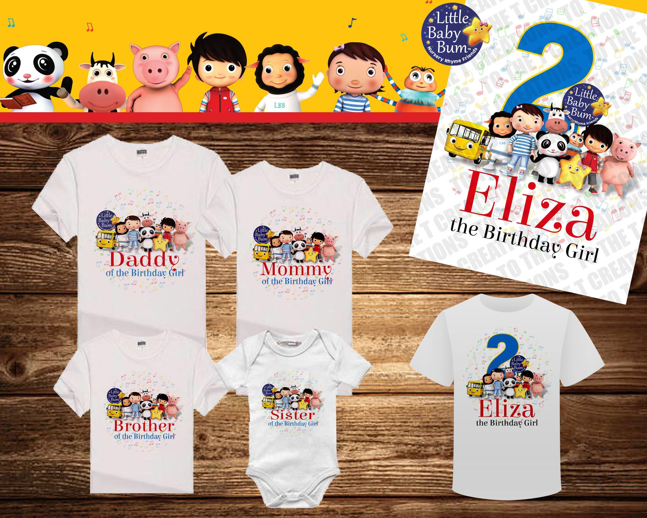 Little Baby Bum Personalized Birthday Shirt For Any Family Member Or Other By TotheTCreations On Etsy