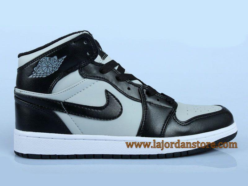 Air Jordan 1 Retro High OG Chaussures Pour Homme Gris Noir 555088 014