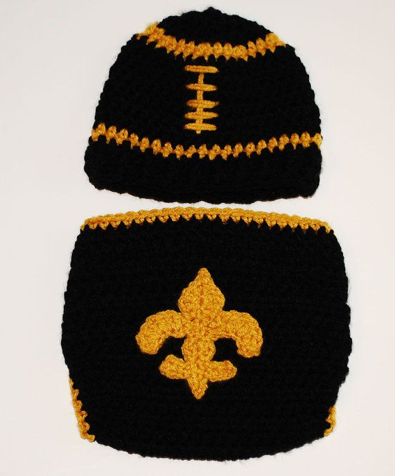 baby hat cover saints football hat and diaper cover set crochet baby hat