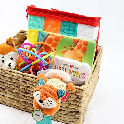 Baby Cakes – Animal Themed Toy Baby Basket