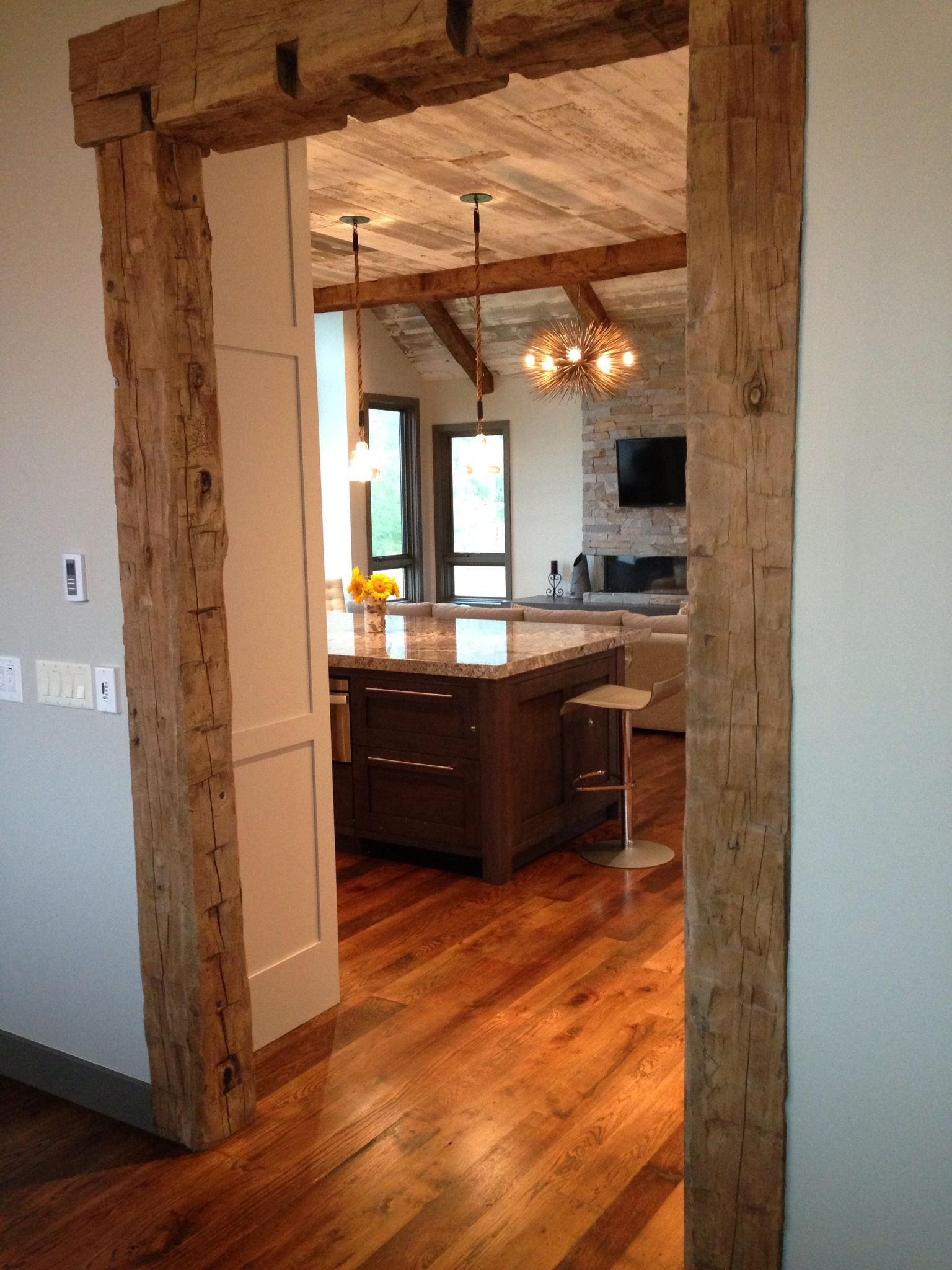 Frame Your Doorway In Hand Hewn Beams And Create An Entrance No One Will Forget