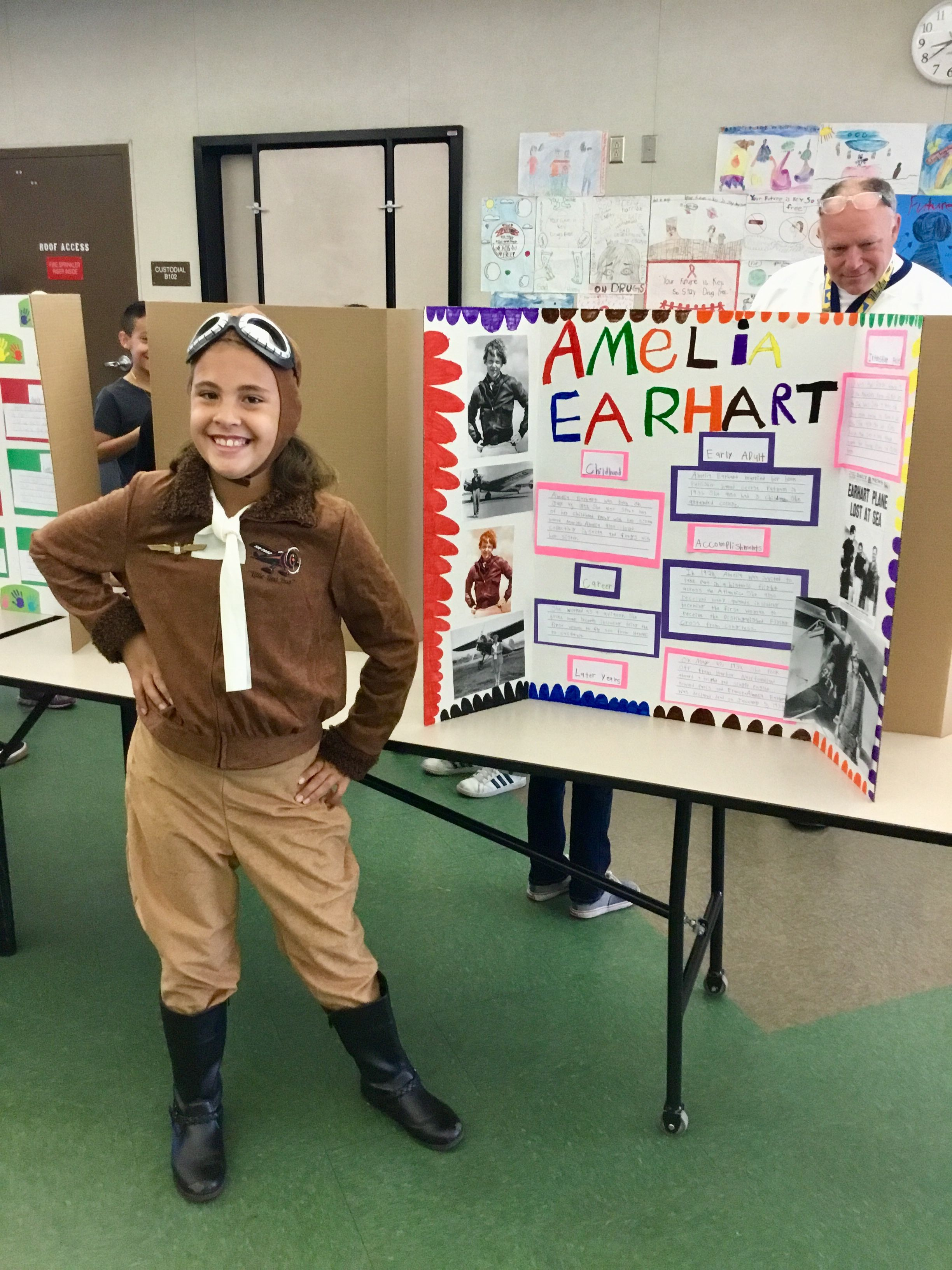Living Museum project. Our daughter and her information board on ...