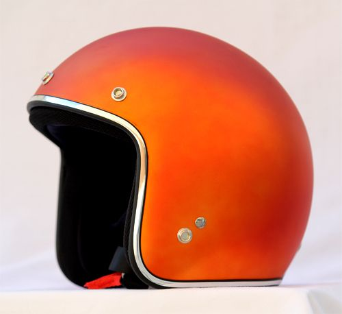 Masei Orange Blur Chrome 610 Open Face Motorcycle Helmet Motorhelm
