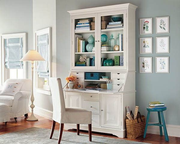 Pottery barn graham large desk and hutch similar ikea for White desk with hutch ikea
