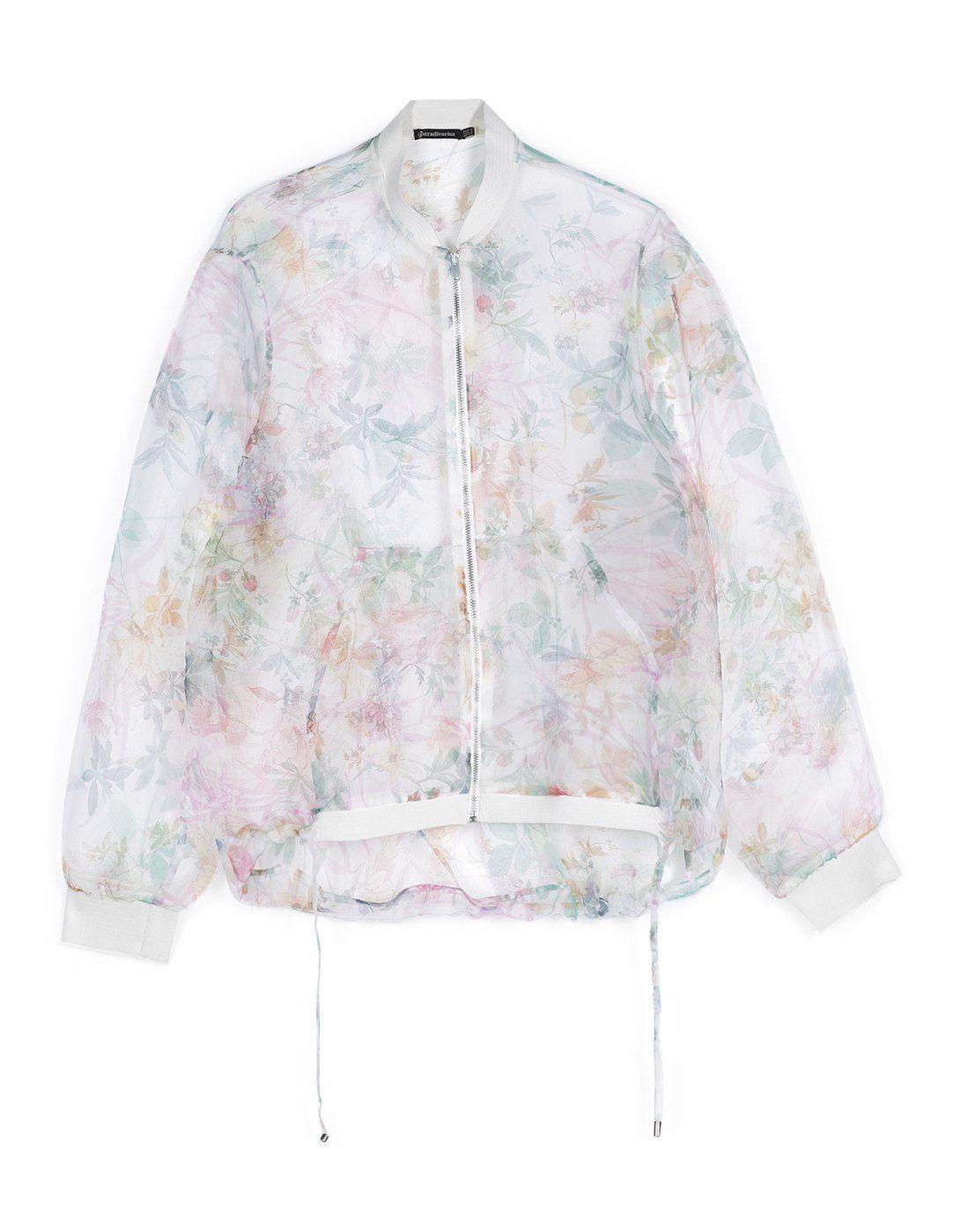 New Womens Summer Floral Print Long Sleeve Bomber Jacket Organza Sunblock Coat