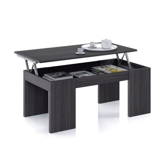 uac pour le salon kendra table basse avec plateau relevable grise cendr with table basse up and. Black Bedroom Furniture Sets. Home Design Ideas
