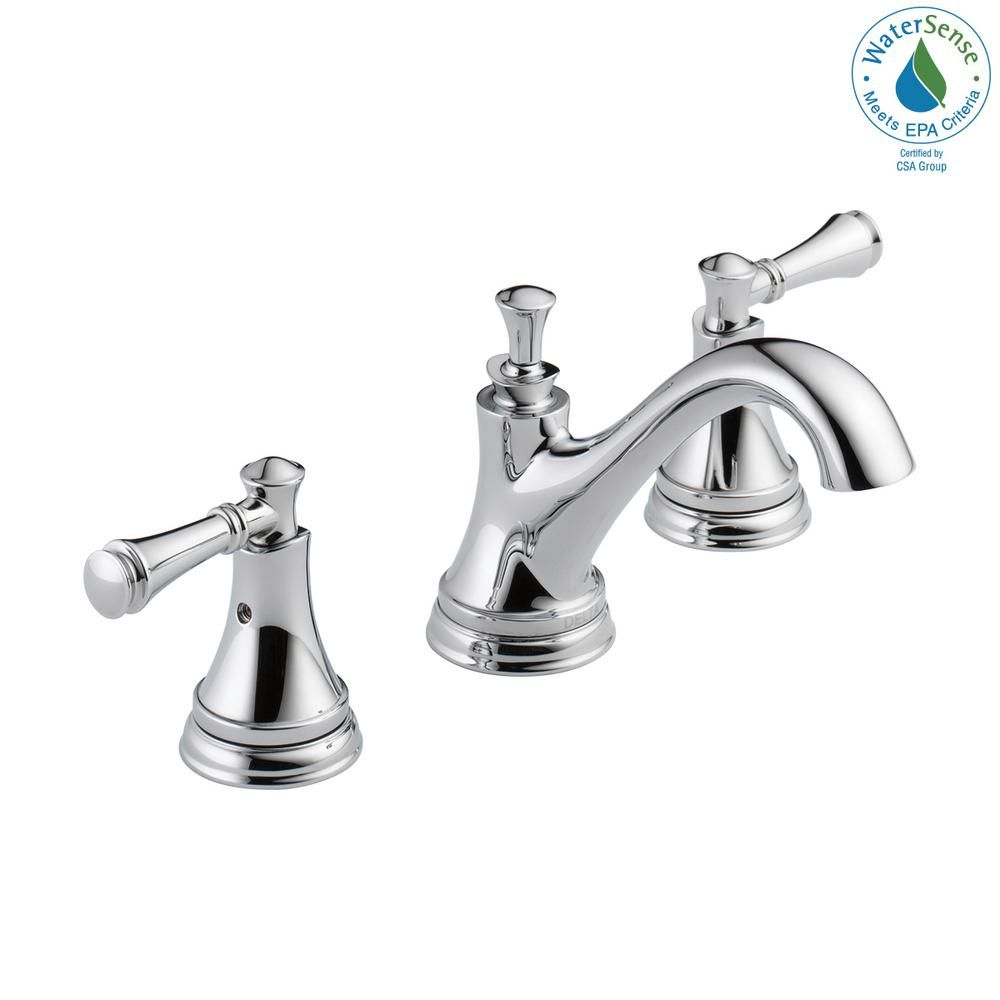 Delta Silverton 8 In Widespread 2 Handle Bathroom Faucet In Chrome 35713lf Eco The Home Depot In 2020 Bathroom Faucets High Arc Bathroom Faucet Faucet