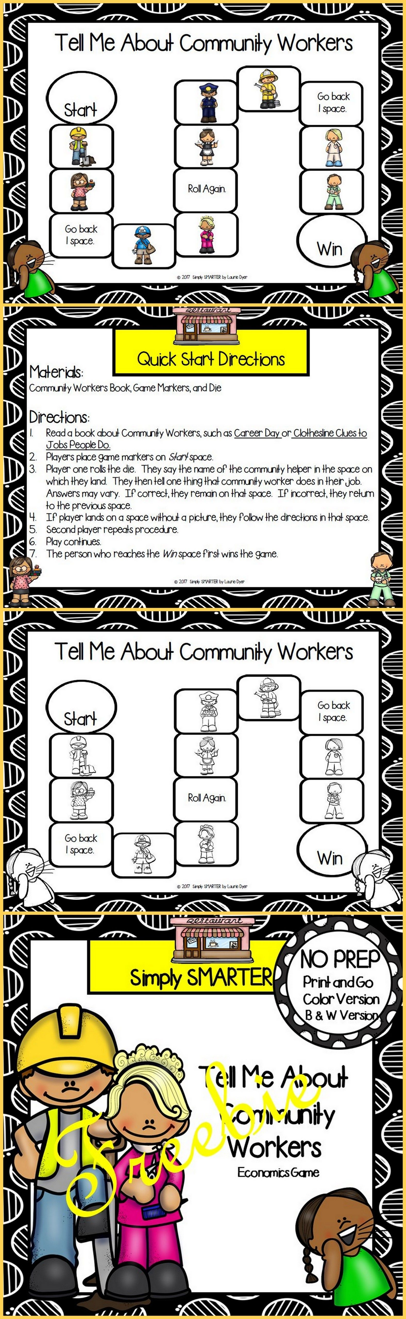 Tell Me About Community Workers Freebie Game