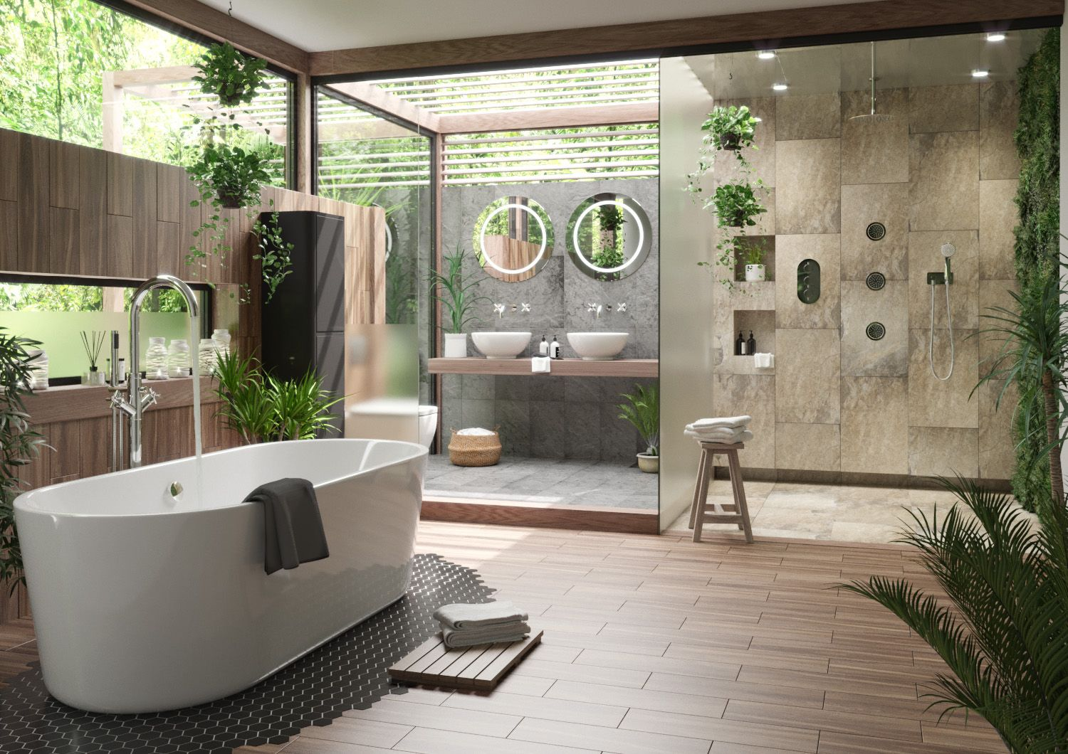 25 Tropical Bathroom Design Ideas - Decoration Love