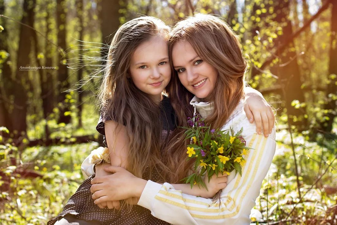 Дочка и мама картинки
