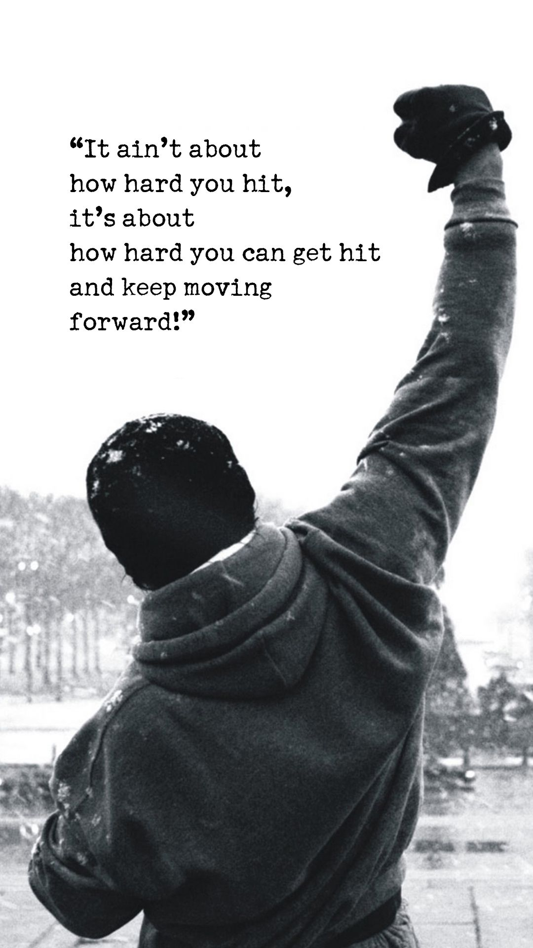 Rocky Quotes Wallpaper : rocky, quotes, wallpaper, Typography, IPhone, Wallpapers, Download, Rocky, Balboa, Quotes,