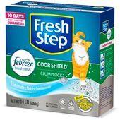 Basura perfumada con protector de olor Fresh Step con el poder de Febreze arena para gatos agrupada 14 lb