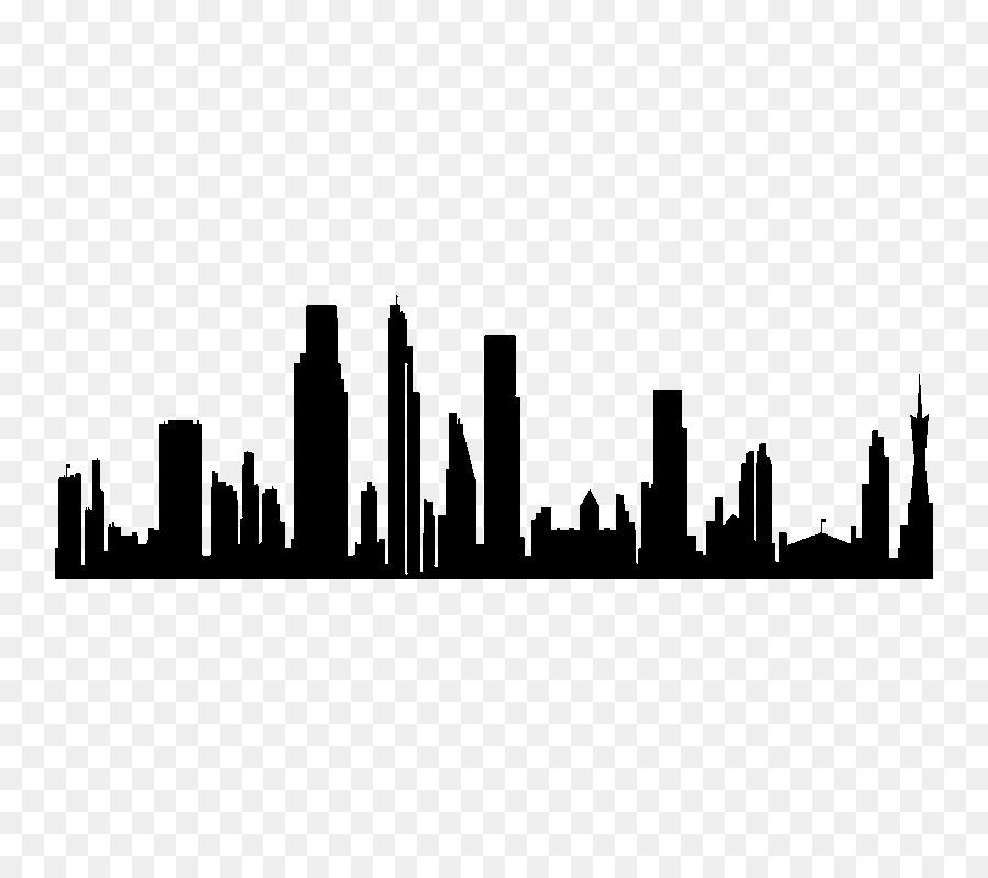Cakrawala Siluet Kota Gambar Png Siluet Gambar Pemandangan Kota