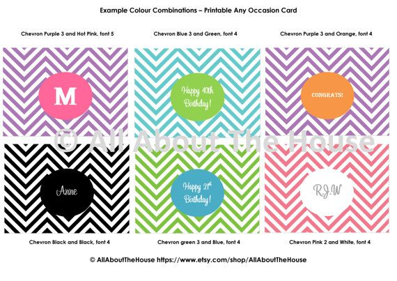 Printable Card - Happy Birthday Card Printable - Christmas Card - congratulations card template