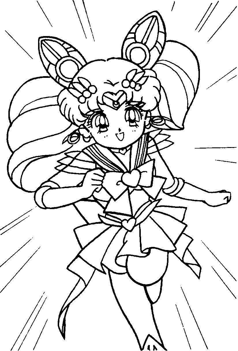 Sailor Moon Coloring Page Moon Coloring Pages Sailor Mini Moon Sailor Moon Coloring Pages