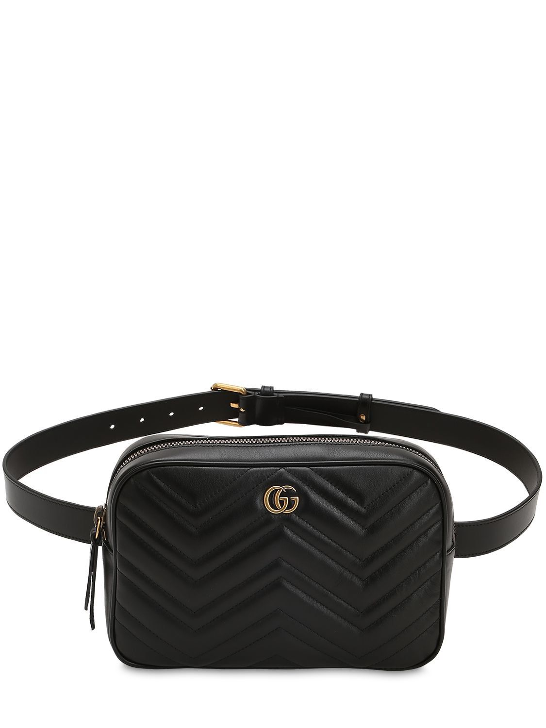 a8f6957611e GUCCI GG MARMONT 2.0 QUILTED LEATHER BELT PACK.  gucci  bags  leather  belt  bags  lining