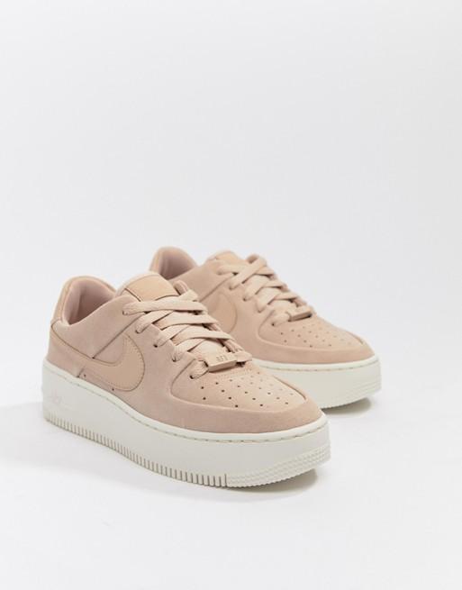 Nike Air Force 1 Sage pale pink suede