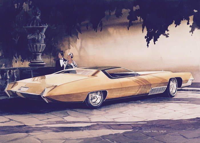 11 original Detroit classic car concept drawings from 'American Dreaming'