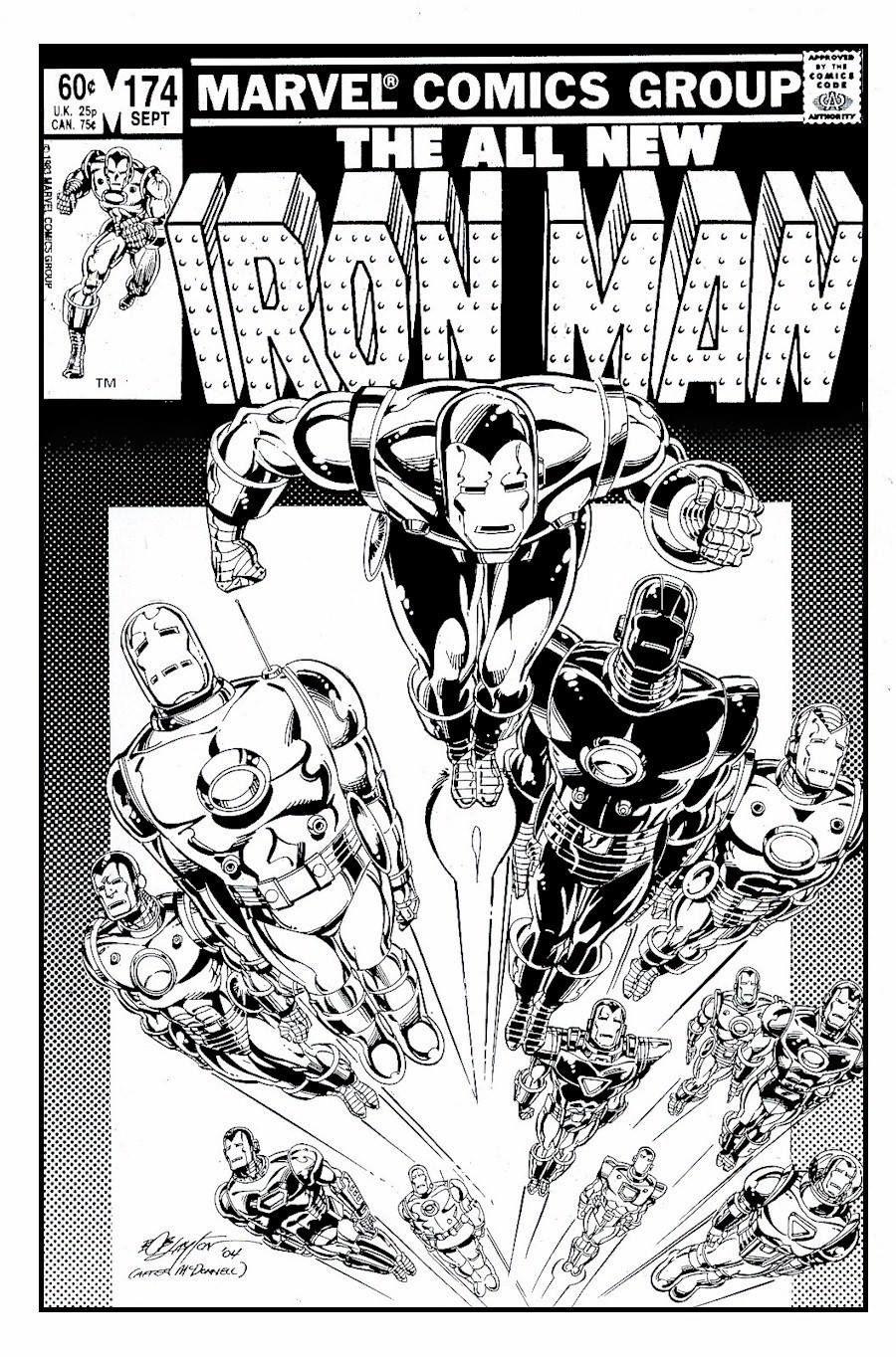 Pin by Warpig on Iron Man   Black and white artwork, Comic ...