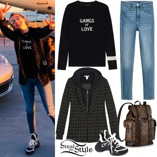 2f35f5379ed3 Millie Bobby Brown Brown Outfit, Ganga, Millie Bobby Brown, Brown Fashion,  School