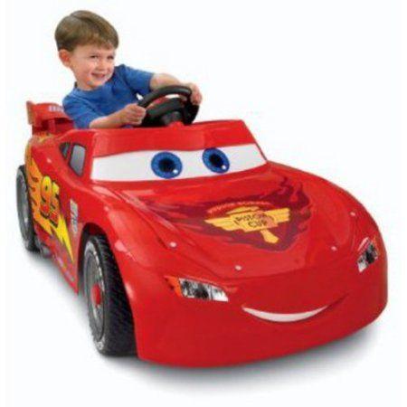 disney cars power wheels lightning mcqueen 6 volt battery powered ride on