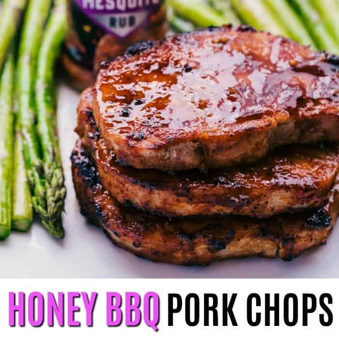 Honey BBQ Pork Chops Seasoned With McCormick's Mesquite