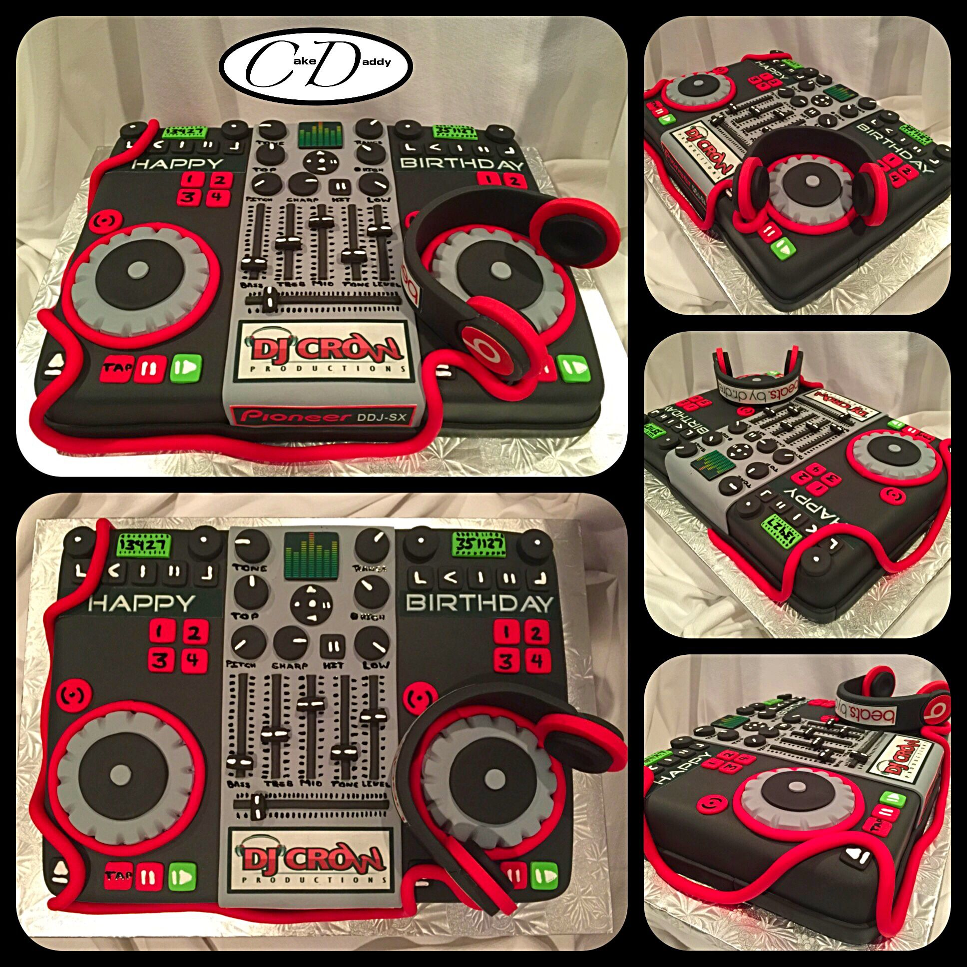 DJ Mixer Board Birthday Cake.