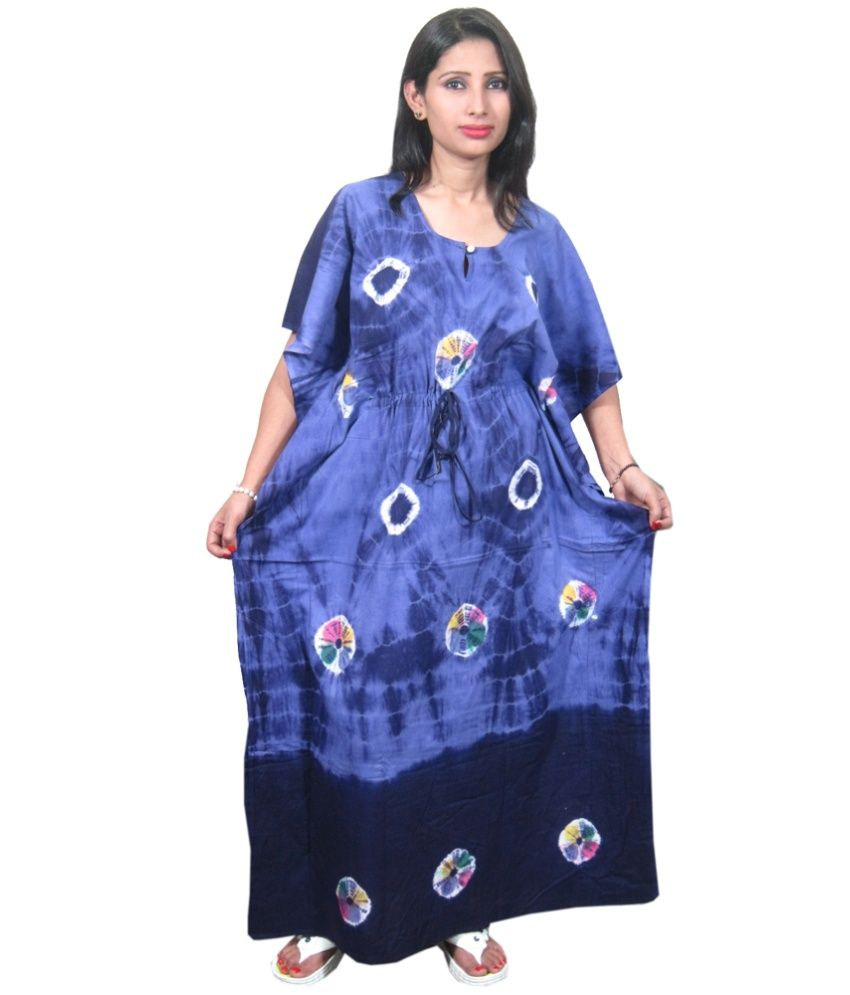 d22083bbc9 Loved it: India Trendzs Blue Cotton Nighty, http://www.snapdeal