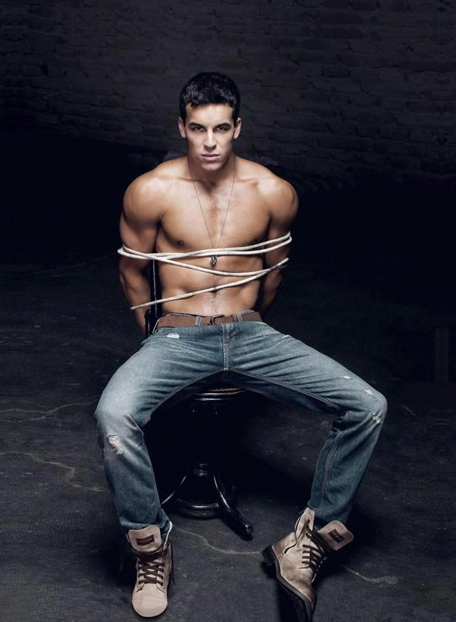 Sexy guy tied up