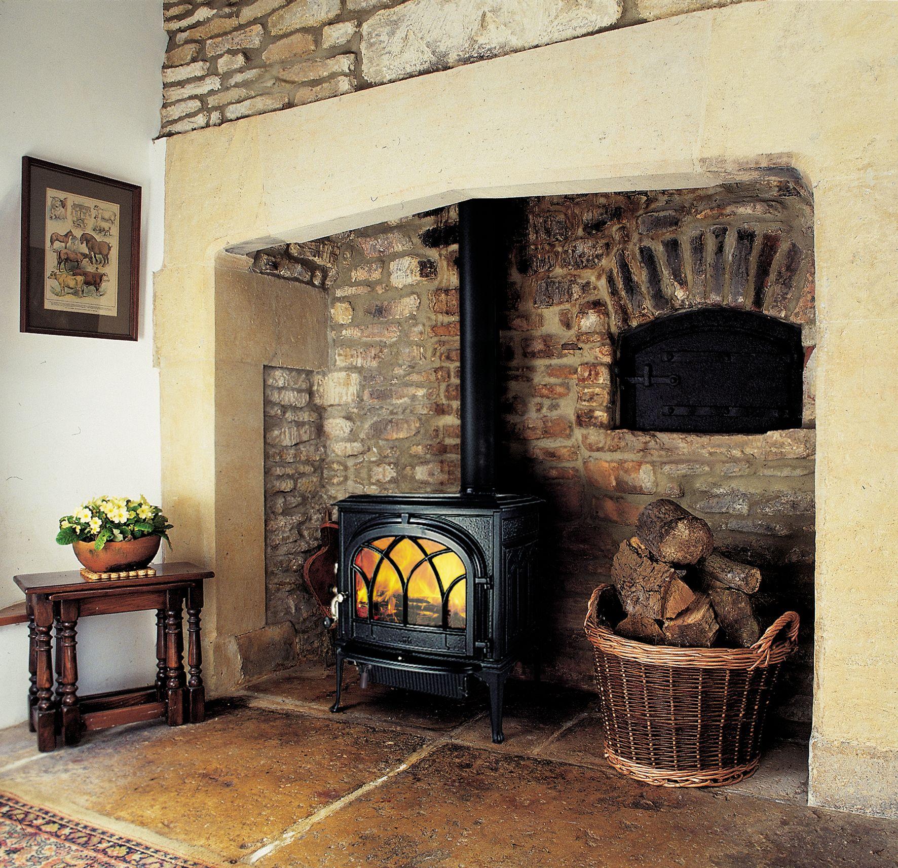 Amundsen Kitchen Hearth Room: Wood Burning Stove Corner, Kitchen Hearth