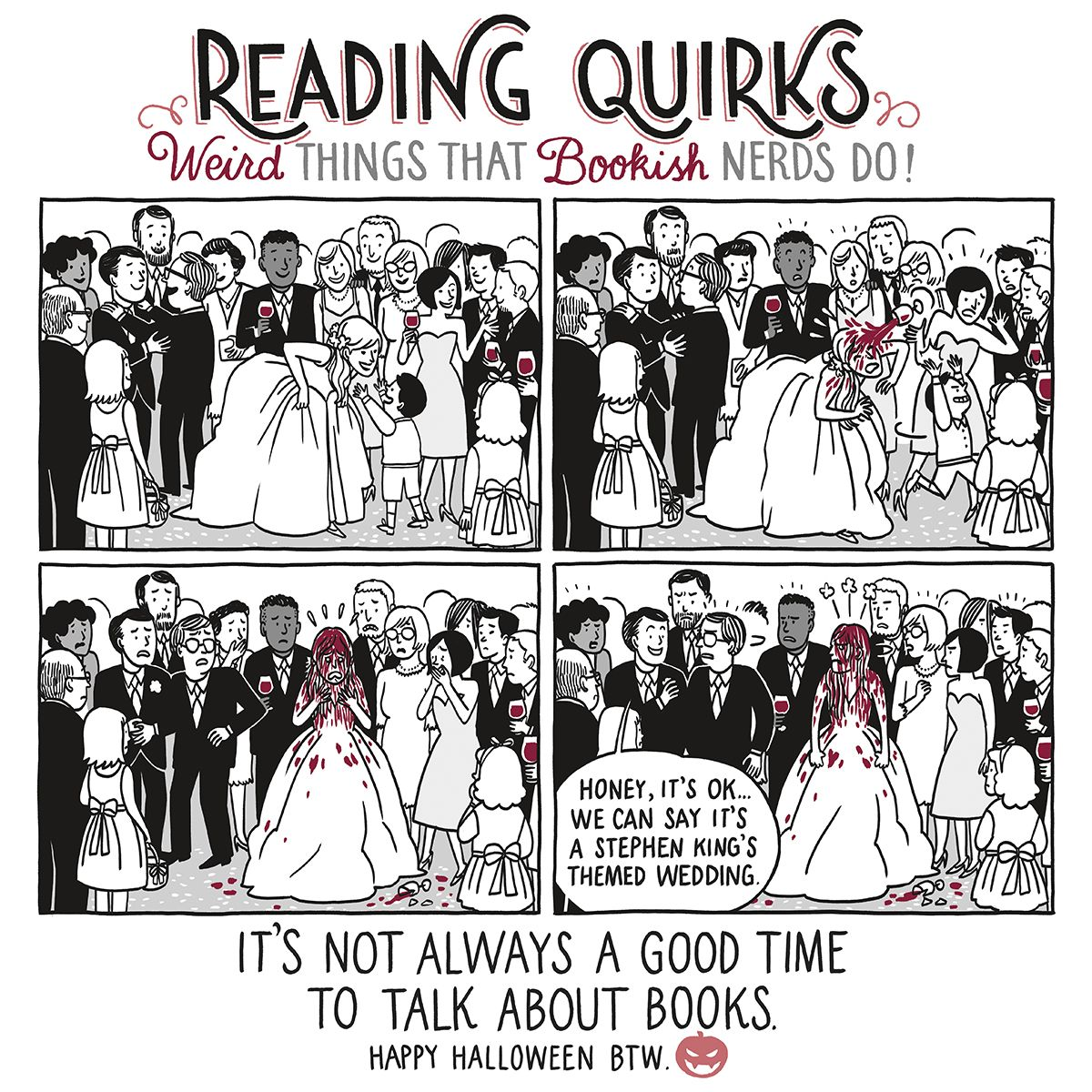 This is a comic series about all those weird things we readers do ...