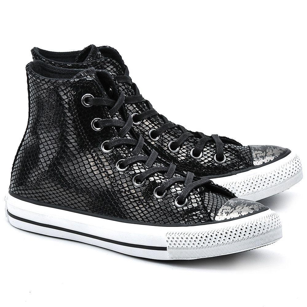 Converse Chuck Taylor All Star Czarne Skorzane Trampki Damskie Buty Kobiety Trampki Mivo Chucks Converse High Top Sneakers Converse High Top Sneaker