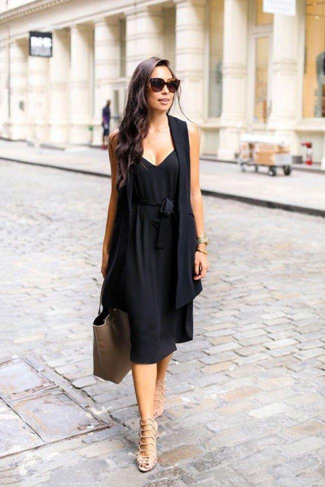 Schwarzes kleid kombinieren schuhe