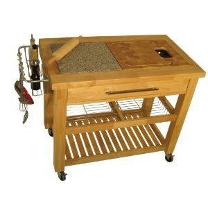 Kitchen Cart Removable Cutting Board, And Hole Makes It Easy To Scrap Trash  In