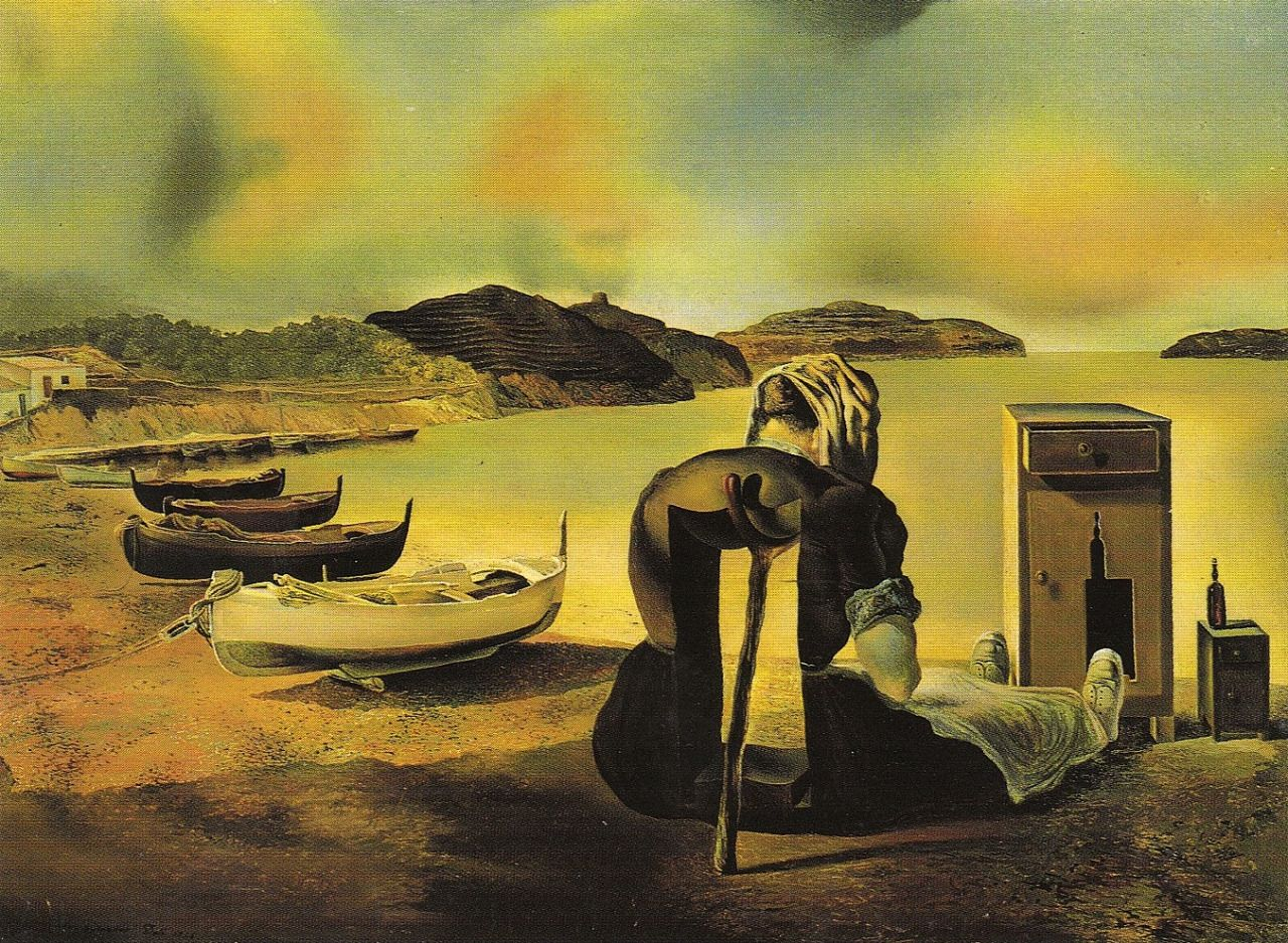Salvador Dalí, The Weaning of Furniture-Nutrition, 1934.   Painting ...