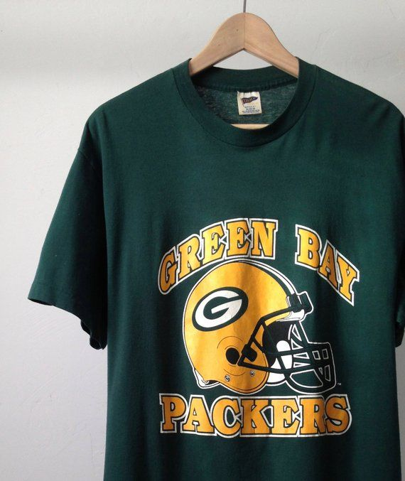 57f83fd1cc2 vintage GREEN BAY PACKERS jersey nfl football 90s t-shirt | Products ...