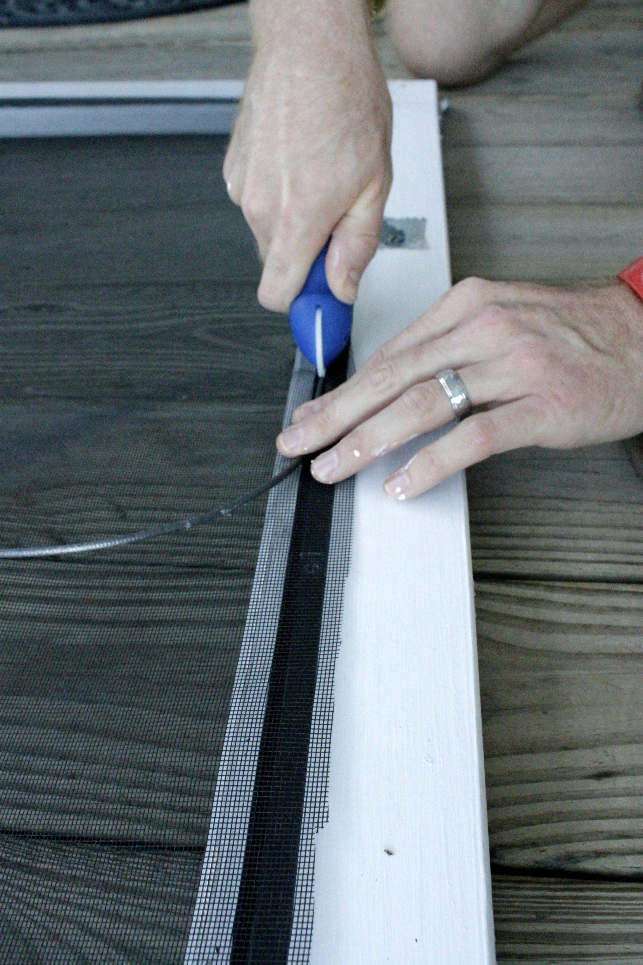 How to replace a screen door screen diy screen door